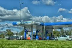 Бензозаправочная колонка Газпром Neft Стоковые Фото