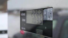 Бензоколонка подсчитывает литры сток-видео