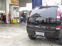 бензоколонка питания автомобиля ваша Стоковое Фото
