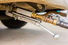 бензоколонка питания автомобиля ваша Стоковое фото RF