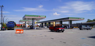 бензоколонка питания автомобиля ваша Стоковые Изображения RF