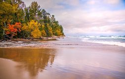 Берега Lake Superior Стоковая Фотография