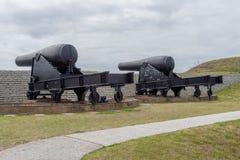 Береговая артиллерия гражданской войны на Mort Moultrie стоковое фото rf