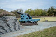 Береговая артиллерия гражданской войны тяжелая на Mort Moultrie стоковое фото rf