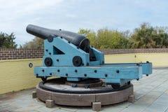 Береговая артиллерия гражданской войны тяжелая стоковая фотография