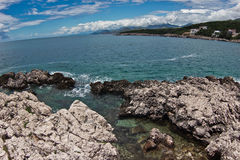 Береговая линия Адриатического моря Стоковое Изображение