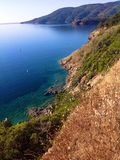 Береговая линия в острове Эльбы, Италии Стоковое Изображение