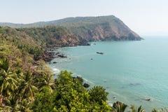 Береговая линия в Goa Индии Стоковые Изображения
