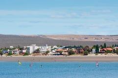 Береговая линия в Puerto Madryn, Аргентине Стоковое фото RF