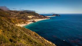 Береговая линия Калифорнии Стоковые Фото