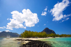 Береговая линия Маврикия Стоковые Фотографии RF