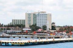 Береговая линия мексиканца пристаней стоковое изображение rf