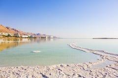 Береговая линия мертвого моря ландшафта Стоковое фото RF