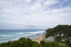 Береговая линия на большой дороге океана, южное Виктория Стоковые Фотографии RF