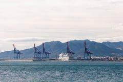 Береговая линия на Малаге Стоковые Фотографии RF