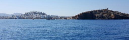 Береговая линия на Naxos, Греции Стоковые Изображения RF