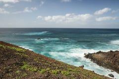Береговая линия острова Лансароте Стоковое Фото