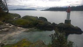Береговая линия острова Pender Стоковые Изображения RF