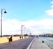 Береговая линия Римини, Италия Стоковые Фотографии RF