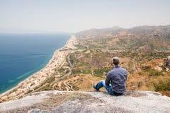 Береговая линия Сицилии Стоковая Фотография