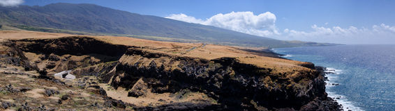 Береговая линия сценарного острова Мауи, Гаваи Стоковое Изображение