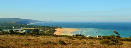 Дорога океана береговой линии Anglesea большая стоковое изображение rf