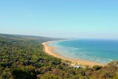 Дорога океана береговой линии Anglesea большая Стоковые Фото