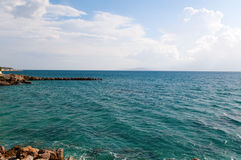 Береговая линия Nicolaos ажио Стоковое Изображение RF