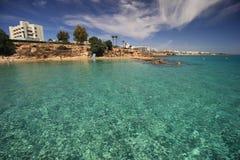 Береговая линия Protaras, Кипра Стоковое Изображение