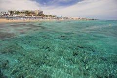 Береговая линия Protaras, Кипра Стоковые Фотографии RF