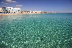 Береговая линия Protaras, Кипра Стоковое фото RF