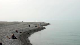 Береговая линия в городе Батуми в солнечном дне акции видеоматериалы