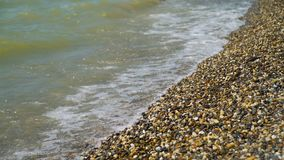 Береговая линия каменного пляжа акции видеоматериалы