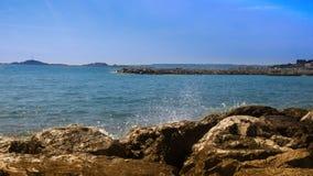 Береговая линия марселей-Prado стоковое изображение rf
