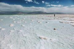 Береговая линия мертвого моря, Израиль Стоковая Фотография RF
