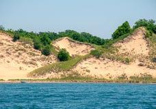 Береговая линия песчанной дюны Lake Michigan стоковые изображения