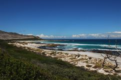 Береговая линия полуострова накидки, Южная Африка Африки красивая Стоковые Изображения