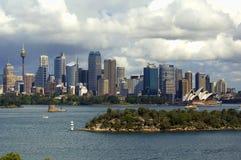 береговая линия Сидней городского пейзажа Стоковое Изображение RF