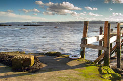 Береговая линия Шотландия Culross Стоковые Изображения