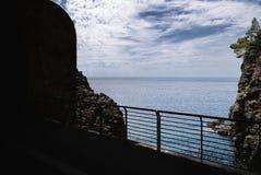 Береговая линия Bonassola - Ligurian море - Лигурия - Италия Стоковые Фотографии RF