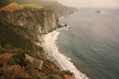 береговая линия california Стоковая Фотография