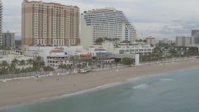 Береговая линия Miami Beach видеоматериал
