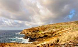береговая линия oahu неровный Стоковое Изображение