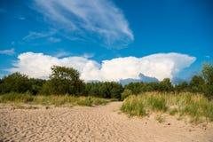 Берег Балтийского моря в Латвии стоковые фотографии rf