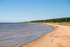 Берег Балтийского моря в Латвии стоковое изображение rf