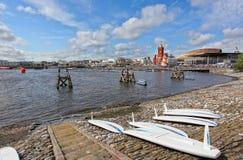 Берег залива Cardiff Стоковая Фотография