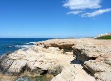 берег каменистый Стоковые Фото