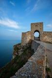 Берег крепости Kaliakra старый Стоковые Изображения RF