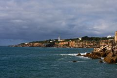 берег маяка стоковое фото rf