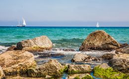 Берег моря в Бадалонае Стоковые Изображения